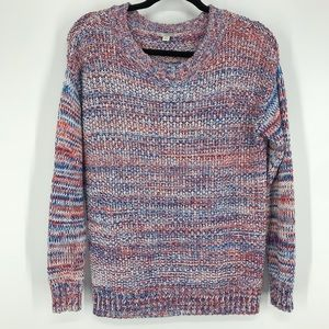 Gap xs knit sweater blue white and red